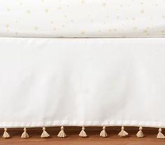 The Emily & Meritt Tassel Crib Skirt