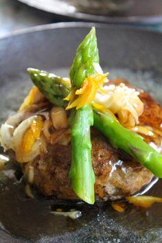 my original recipe 和風ハンバーグ ゆずあんソース  Hamburger steak with yuzu thick sauce