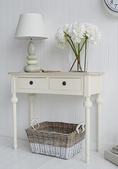 Cream Hall Table cottage cream half moon hall table. ideas in country cottage home