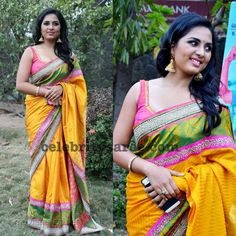 Exclusive Collection of Indian Celebrity Sarees and Designer Blouses Yellow Saree, Saree Blouse Patterns, Indian Celebrities, Beautiful Saree, Exclusive Collection, Indian Beauty, Blouse Designs, Sarees, Women