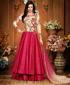 Looking to buy Anarkali online? ✓ Buy the latest designer Anarkali suits at Lashkaraa, with a variety of long Anarkali suits, party wear & Anarkali dresses! Designer Salwar Kameez, Designer Anarkali, Pakistani Outfits, Indian Outfits, Pakistani Clothing, Western Outfits, Latest Anarkali Suits, Salwar Suits, Punjabi Suits