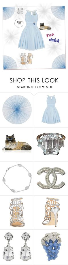 """Pastel and a cute clutch"" by deborah-518 ❤ liked on Polyvore featuring Tisch New York, Quiz, Judith Leiber, Augustine Jewels, Chanel, Sergio Rossi and Kenneth Jay Lane"