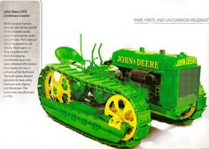 John Deere GPO Lindeman Crawler - While standard tractors were too tall, the low-profile Orchard Crawler could easily fit and operate under orchard trees.   This tractor was manufactured in 1934.