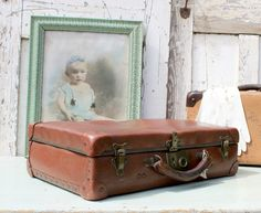 Vintage Suitcase/Suitcase/French Suitcase/Vintage//Vintage Luggage/French Vintage/Shabby Chic by Restored2bloved on Etsy