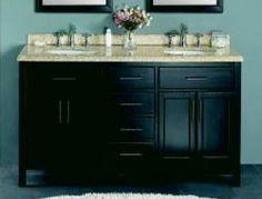 Ziemlich Bathroom Vanities foremost gazette 61 in. vanity with granite top in rushmore grey