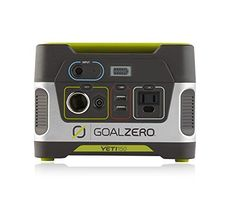 A plug and play generator for emergencies camping or wherever you need power. The Goal Zero Yeti 150 Solar Generator is a gas free source of portable power to keep lights phones and laptops powered...