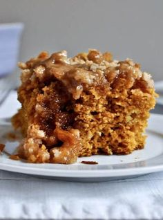 Pumpkin Coffee Cake.   How Sweet It Is