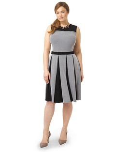Taylor Dresses | Stripe Dress With Pleated Skirt | Gwynnie Bee