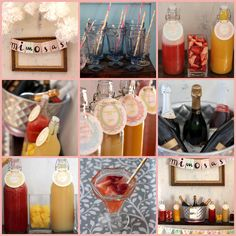 Mimosa Bar -- ideal for Baby Shower, Bridal Shower, Bridal Brunch, or any party!