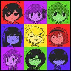 Shuuen no Shiori / Bookmark of Demise  Characters: A-ya / B-ko / C-ta / D-ne / A-no / B-ka / C-na / D-suke / E-ki