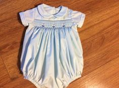 Baby Boy's Hand Smocked Bubble  Sz 3m by ATreasuredHeirloom