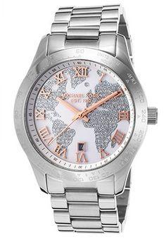 04a731931d1 Women s Layton Silver-Tone Steel White Dial Watches Michael Kors
