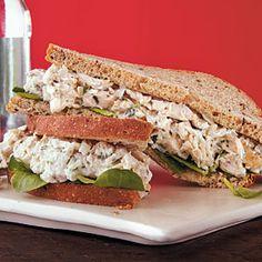 Herbed Chicken Salad Sandwiches | MyRecipes.com #myplate #protein #grain