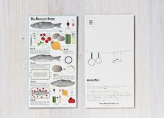 Post Card Recipes - Casa Morimi by Stefano Citi, via Behance