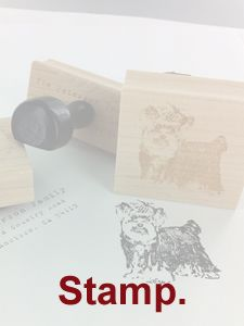 """Customize rubber stamps are a thought - maybe stamping """"SCOTT + MICHAEL"""" on kraft bags (if not doing totes)"""