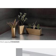 """VASES  Accessories for kitchen and interiors are the """"icing on the cake"""" of the STEININGER designs. Our striking extras and unique pieces set artistic accents in your interior design - whether in the living room or in the business area. We are currently designing many new exquisite accessories, which will soon be available in our online shop.  Subscribe to our newsletter and we will inform you about our new accessories.  KITCHEN- INTERIOR DESIGN- ARCHITECTURE  #steiningerdesigners… Interior Design Kitchen, Interior Architecture, Bespoke, Vases, Icing, Planter Pots, This Is Us, Interiors, Living Room"""