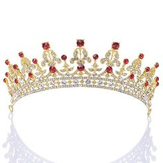 Remedios Royal Wedding Tiara Crown Princess Pageant Headband w Rhinestones, Gold & Red, http://www.amazon.com/dp/B018WWWEYW/ref=cm_sw_r_pi_awdm_k2rSwb0718TJJ