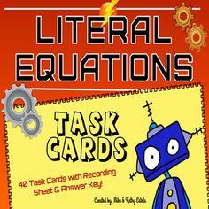 28 Best Education Algebra 1 Literal Equations Images Literal