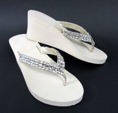 8 99 Womens Fashion Wedge Sandals S Flip Flops W Pearls 4 Colors Shoes Potential Bridesmaid Pinterest