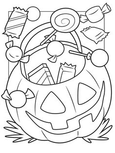 halloween candy coloring pages - page from a vintage coloring book i loved to color when