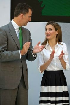 Crown Prince Felipe and Letizia attends the European business awards for Environment Business June 5, 2014