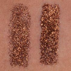 Glitter Pigment in Hot Chocolate S3 swatch on dark, deep complexion.