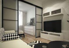 Fotografije na zidu zajednice Studio Apartment Layout, Small Apartment Design, Studio Apartment Decorating, Small Apartments, Small Spaces, Condo Interior Design, Condo Design, Home Room Design, Apartment Interior