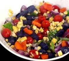Medley using Rainbow of Vegetables - LOVE blue potatoes!
