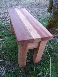 Western Red Cedar Bench, End, Side Table