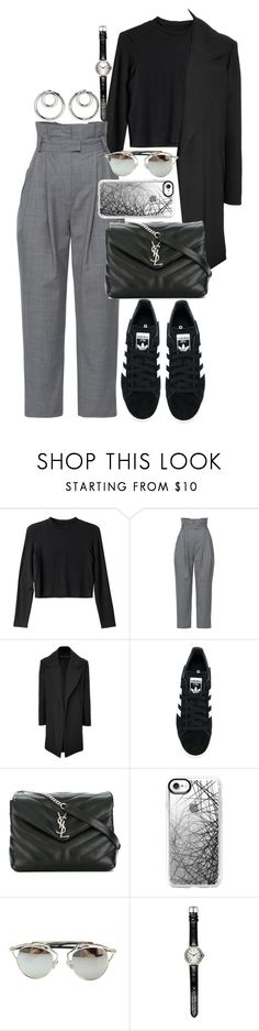 """• 90"" by dianasf ❤ liked on Polyvore featuring Monki, Anna October, Anthony Vaccarello, adidas Originals, Yves Saint Laurent, Casetify, Chicnova Fashion, River Island and Alexander Wang"