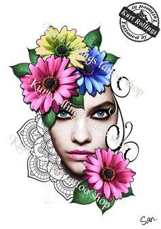 #sketchtattoo #belgiumtattoo #portraittattoo #realistictattoo #kurtrollings #flowertattoo #mandalatattoo