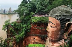 The Giant Buddha of Leshan is the tallest stone Buddha statue in the world.The Giant Buddha overlooks the confluence of the Minjiang, Dadu and Qingyi rivers and faces the sacred Mount Emei with which it shares its World Heritage status.