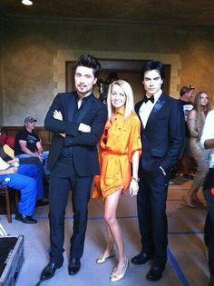 Dima Bilan, Yana Rudkovskaya and Ian Somerhalder