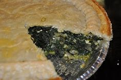 My MIL spinach pie recipe. It is da bomb and it freezes well.