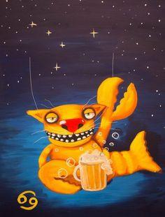 Котики в образе знаков зодиака  (12 иллюстраций)