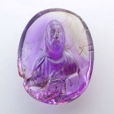The Aboutaams of Phoenix Ancient Art bring you a stunning Byzantine Amethyst Cameo of Christ Pantokrator