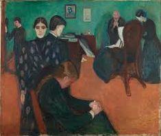 Edvard Munch; La Morte; olio su tela; 1893; Museo Nazionale,Olso.