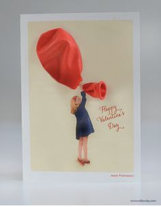 3d valentines day card...