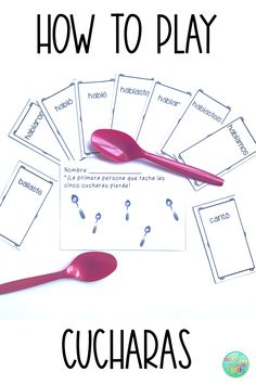 How to Play Cucharas in Spanish Class Kids love reinforcing verb conjugations with this super fun game! Read about how to play Cucharas (Spoons) in Spanish class. Spanish Classroom Activities, Spanish Teaching Resources, Spanish Language Learning, Listening Activities, Spanish Grammar, Spanish Alphabet, Spelling Activities, Learning English, Teaching Math