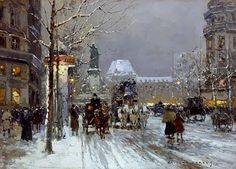 Thé au Jasmin: Edouard Leon Cortes, Paris sous la neige