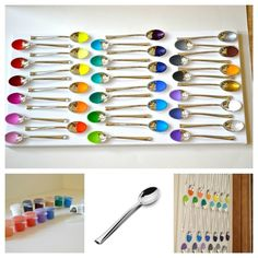 Painted Spoons Wall Art
