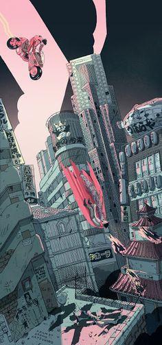 Akira by Shian Ng - Home of the Alternative Movie Poster -AMP- Manga Anime, Manga Art, Anime Art, Art Cyberpunk, Cyberpunk Aesthetic, Wallpaper Animes, Animes Wallpapers, Aesthetic Art, Aesthetic Anime