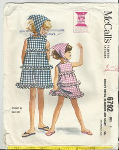 by Helen Lee, 1963 Childrens Sewing Patterns, Kids Patterns, Vintage Sewing Patterns, Clothing Patterns, Vintage Kids Fashion, Vintage Girls, Vintage Outfits, Vintage Children, Moda Vintage