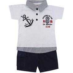 Conjunto Infantil Esporte Chique Masculino Branco - Nini & Bambini :: 764 Kids | Roupa bebê e infantil