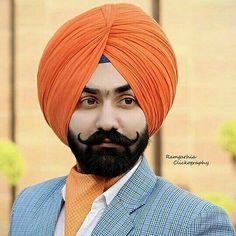 A💞 Big Men Fashion, Suit Fashion, Brocade Suits, Punjabi Boys, Kurta Pajama Men, Blur Photo Background, Stylish Sarees, Turban Style, Beard Styles