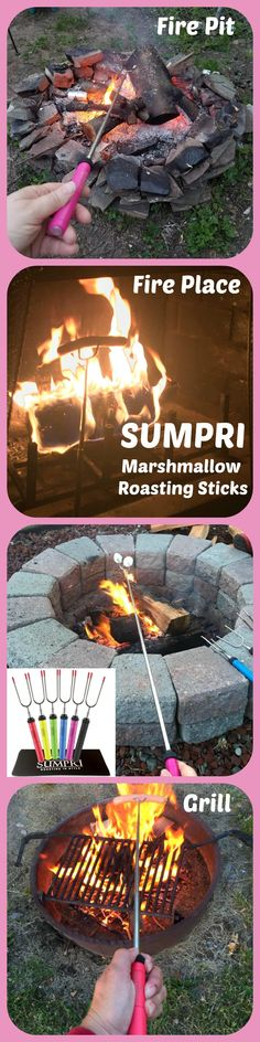 """UMPRI Barbeqa Marshmallow Roasting Sticks Telescoping Marshmallow Roasting Sticks Extra Long 34"""" Set of 6 Campfire Forks Cooking Skewers for Smores, Hotdogs, Camping Cookware, Backpacking Gear, Bbq Grill, Fireplace Tools, Fire Pit Accessories Press this link now and get your set:http://amzn.to/2b5q486 This set of 6 forks is made by #sumpri #marshmallow #sticks #marshmallowroastingsticks #smoressticks #campfiresticks #smores"""