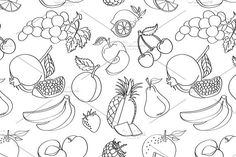 Doodle pattern fruit. Patterns