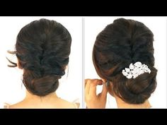 ★5MIN EASY PARTY #UPDO for you're running late!      #BUN #HAIRSTYLES FOR MEDIUM LONG HAIR TUTORIAL   #beauty #style #styles #wedding #prom #homecoming #everyday #backtoschool #school #hairstyle #romantic #cute #trend #curlyhairstyles  #fashion #hairdos #hairbun #chignon  #Peinados