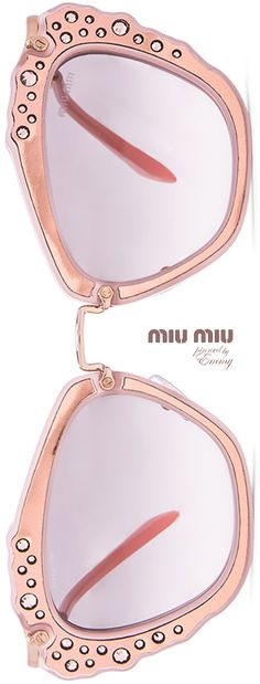 MIU MIU Embellished Cat Eye #sunglasses #swarovski