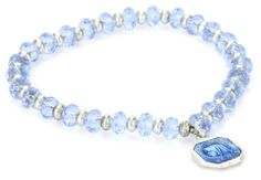 The Vatican Library Collection Kingdom Aquamarine Mother Mary Bracelet - Fashion Jewelry